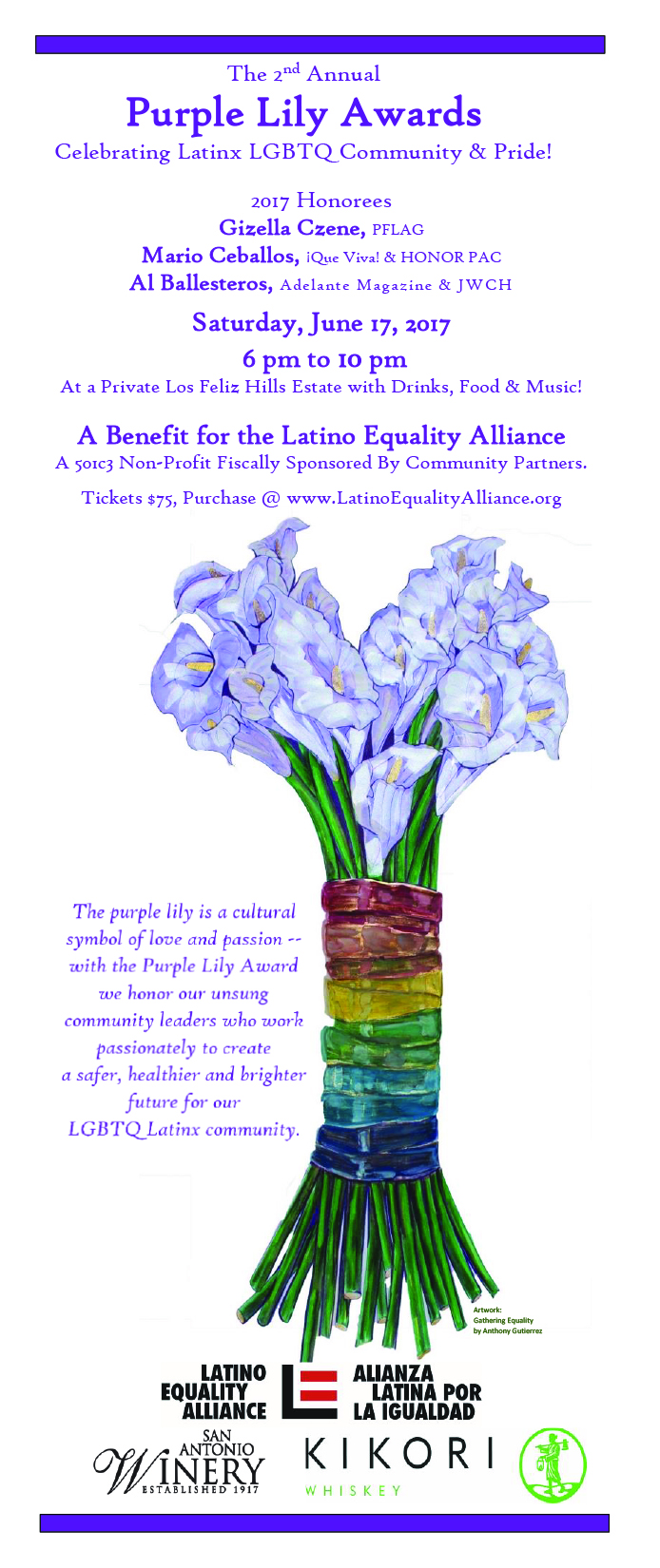 2017 Purple Lily invitation VERTICAL
